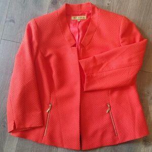 Nipon Boutique Coral colored Blazer, size 14W
